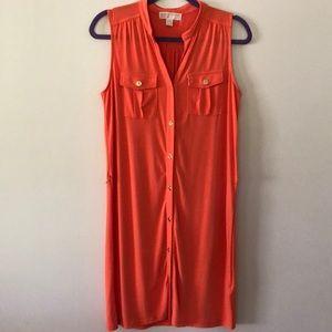 Michael Kors Sm/ M Sleeveless Shirt Dress PERFECT